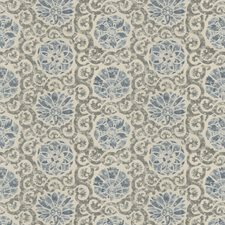Blue Quartz Print Pattern Decorator Fabric by Vervain