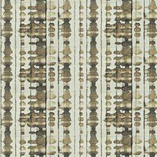 Bronze Geometric Decorator Fabric by S. Harris