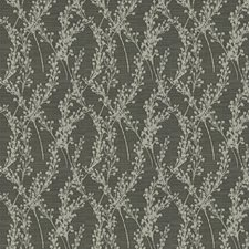 Graphite Floral Decorator Fabric by Trend