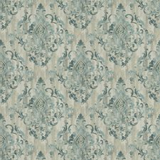 Teal Print Pattern Decorator Fabric by Trend