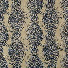 Azure Paisley Decorator Fabric by Kravet