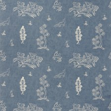 Happy Blue Novelty Decorator Fabric by Andrew Martin