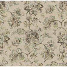 Beige/Brown/Light Blue Botanical Decorator Fabric by Kravet