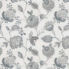 Blue/Grey Floral Decorator Fabric by JF