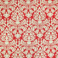 Scarlet Floral Decorator Fabric by Greenhouse