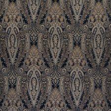 Midnight Scroll Decorator Fabric by Greenhouse