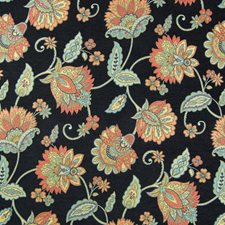 Noir Floral Decorator Fabric by Greenhouse