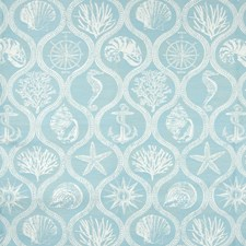 Aquamarine Tropical Decorator Fabric by Greenhouse