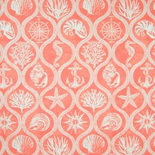 Coral Red Tropical Decorator Fabric by Greenhouse