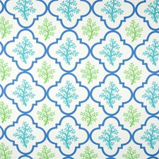 Turquoise Tropical Decorator Fabric by Greenhouse
