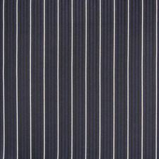 Navy Stripe Decorator Fabric by Greenhouse