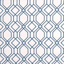 Cobalt Lattice Decorator Fabric by Greenhouse