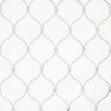 Silver Lattice Decorator Fabric by Greenhouse