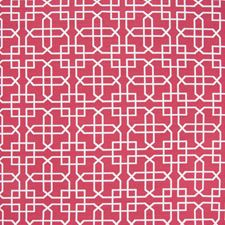 Cerise Lattice Decorator Fabric by Greenhouse
