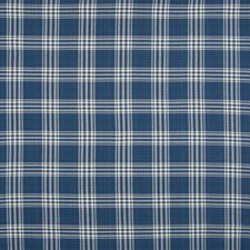 Deep Sea Plaid Check Decorator Fabric by Greenhouse