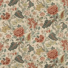 Neutral/Slate/Rust Botanical Decorator Fabric by Kravet