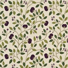 Aubergine Embroidery Decorator Fabric by G P & J Baker