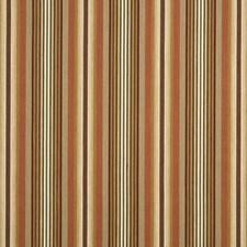Sand/Terracotta Stripes Decorator Fabric by G P & J Baker