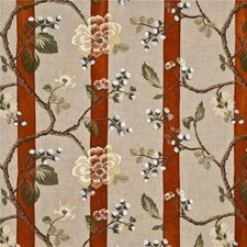 Coral Embroidery Decorator Fabric by G P & J Baker