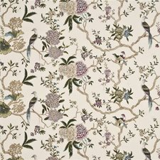 Cream/Multi Embroidery Decorator Fabric by G P & J Baker