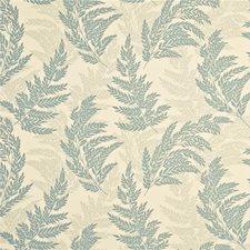 Aqua/Ivory Decorator Fabric by G P & J Baker