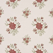 Rose/Sage Embroidery Decorator Fabric by G P & J Baker