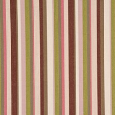 Rose/Green Stripes Decorator Fabric by G P & J Baker