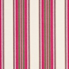 Fuchsia/Spring Stripes Decorator Fabric by G P & J Baker