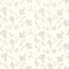 Ivory Embroidery Decorator Fabric by G P & J Baker