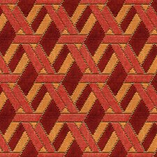 Red/Orange Contemporary Decorator Fabric by G P & J Baker