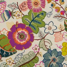 Multi Embroidery Decorator Fabric by G P & J Baker