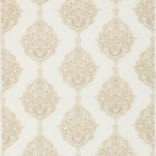 Ivory/Stone Embroidery Decorator Fabric by G P & J Baker