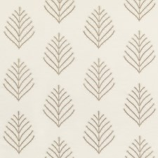 Ivory/Stone Botanical Decorator Fabric by G P & J Baker