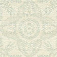 Aqua Damask Decorator Fabric by Lee Jofa