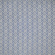Blue Geometric Decorator Fabric by Lee Jofa