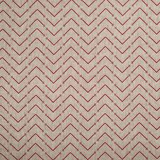 Red Geometric Decorator Fabric by Lee Jofa
