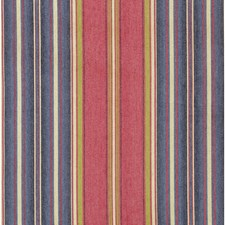 Red/Blue Stripes Decorator Fabric by Lee Jofa