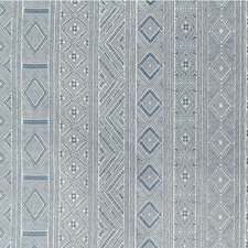Medium Blue Ethnic Decorator Fabric by Lee Jofa