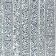 Medium Blue Ethnic Decorator Fabric by Lee Jofa