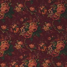 Burgundy/Red/Rust Botanical Decorator Fabric by Kravet