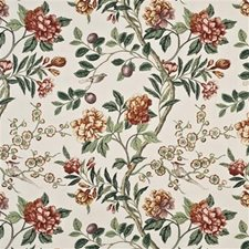Red/Green Print Decorator Fabric by G P & J Baker