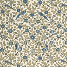 Aqua/Linen Animal Decorator Fabric by G P & J Baker