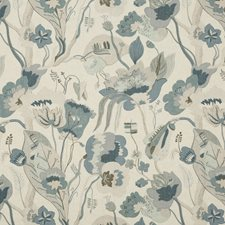 Linen/Denim Print Decorator Fabric by G P & J Baker