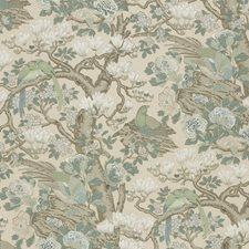 Soft Blue Animal Decorator Fabric by G P & J Baker
