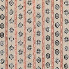 Red/Indigo Print Decorator Fabric by G P & J Baker