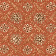 Red Paisley Decorator Fabric by G P & J Baker