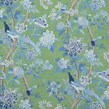 Emerald/Blue Animal Decorator Fabric by G P & J Baker