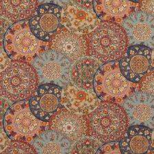 Red/Indigo Geometric Decorator Fabric by G P & J Baker