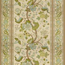 Aqua/Taupe Botanical Decorator Fabric by Brunschwig & Fils