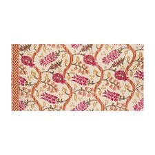 Grenadine/Orange Spice Ikat Decorator Fabric by Brunschwig & Fils